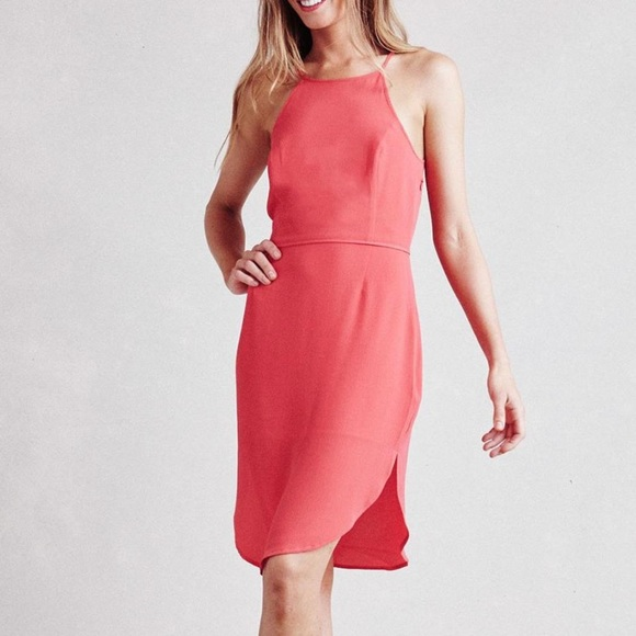 Paper Crown Dresses & Skirts | Paper Crown Coral Cocktail Dress ...